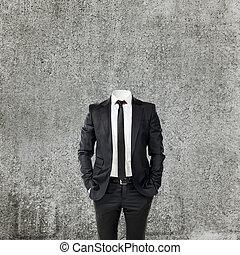 tête, homme, sans, business