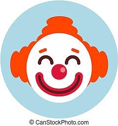 tête, icon., clown