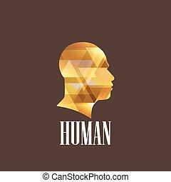 tête, illustration, humain
