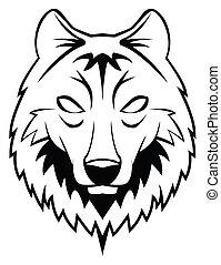 tête, loup