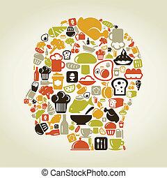 tête, nourriture