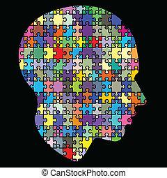 tête, puzzle