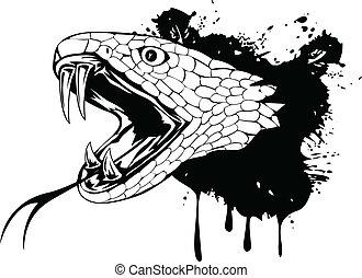 tête, serpent