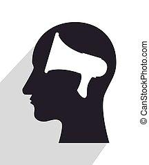 tête, silhouette