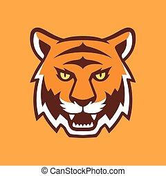 tête tigre, illustration.