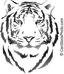 tête tigre, noir, interpretation3
