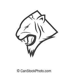 tête tigre, vecteur