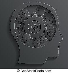 tête, vecteur, mécanisme