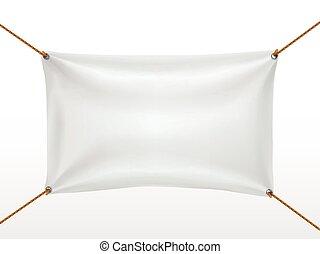 têxtil, branca, bandeira