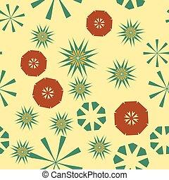 têxtil, childs, fundo, coloridos, urdidura, simples, padrão, seamless, amarela, papel, flowers., vetorial, textura, estrelas, design., geomã©´ricas, circular, roupas