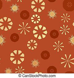 têxtil, childs, fundo, coloridos, urdidura, simples, padrão, seamless, textura, papel, flowers., vetorial, estrelas, laranja, design., geomã©´ricas, circular, roupas