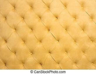 têxtil, luz, fundo amarelo