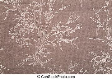 têxtil, marrom, planta, desenhar, textura
