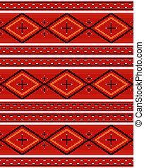 têxtil, padrão, navajo