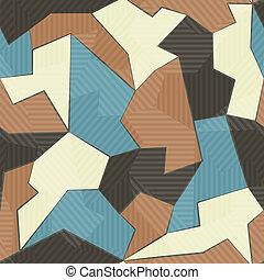 têxtil, padrão, retro, seamless
