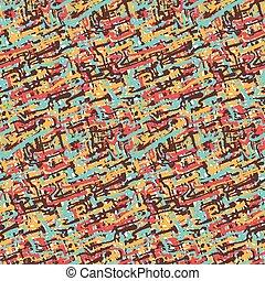 têxtil, seamless, padrão, de, coloridos, golpes