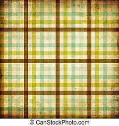 têxtil, xadrez, fundo, em, verde, azul, marrom