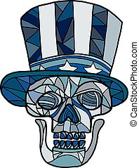 tío sam, cráneo, mosaico