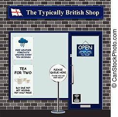 típicamente, tienda, británico