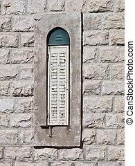 típico, árabe, ventana, en, jordania