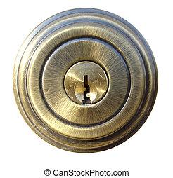 típico, cadeado porta