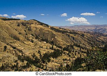 típico, paisagem, andino
