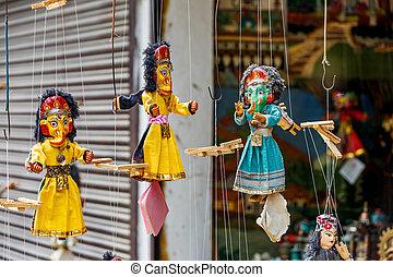 títeres, colorido, marioneta