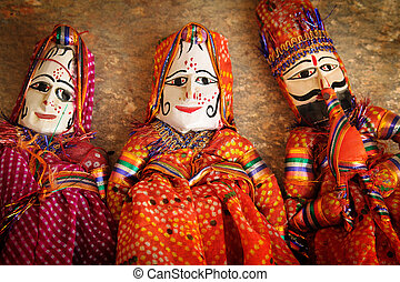 títeres, indio,  traditionnal