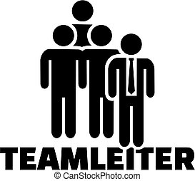 título, alemão, trabalho, líder equipe, ícone