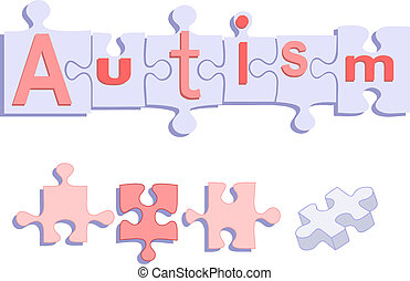 título, rompecabezas, autism, pedazos