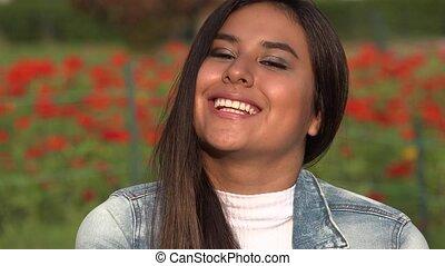 tízenéves kor, spanyol, nevető, női