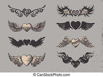 t�towierung, hearts.