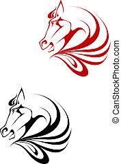 t�towierung, pferd