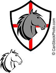 t�towierung, pferd, karikatur