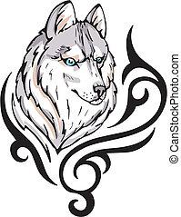 t�towierung, wolf