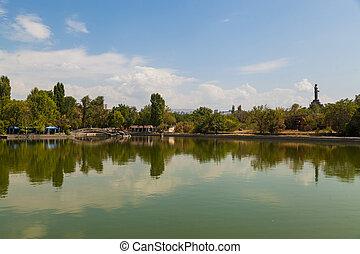 tó, dísztér város, bridzs