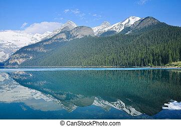 tó louise, alatt, banff, nemzeti, park.