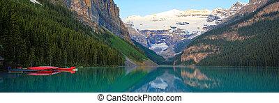 tó louise, piros, kenu, banff nemzeti dísztér