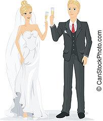 tószt, esküvő