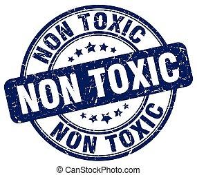tóxico, azul, no, grunge, estampilla