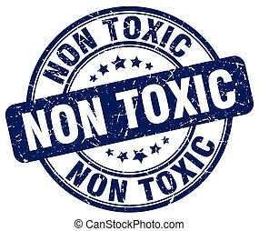 tóxico, azul, non, grunge, selo