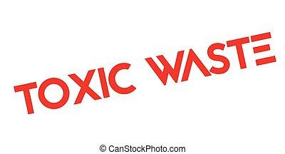 tóxico, caucho, desperdicio, estampilla
