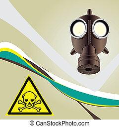 tóxico, fundo, perigo