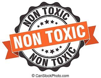 tóxico, non, stamp., sinal., selo