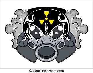 tóxico, tatuagem, vetorial, mascote