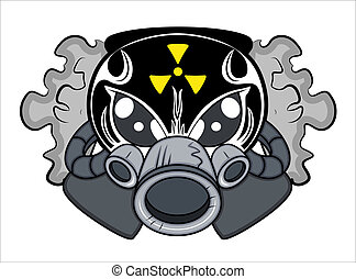 tóxico, tatuaje, vector, mascota
