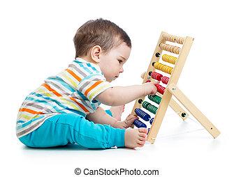 tôt, bébé, apprentissage, garçon