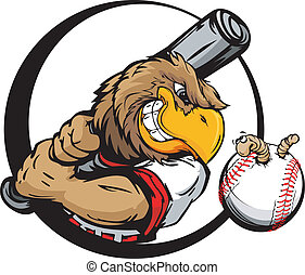 tôt, joueur, base-ball, oiseau, tenue