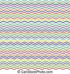 többszínű, megvonalaz, motívum, seamless, hullámos