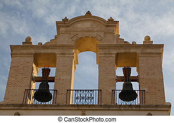 tök, -ban, seville cathedral, -ban, sunset.spain.